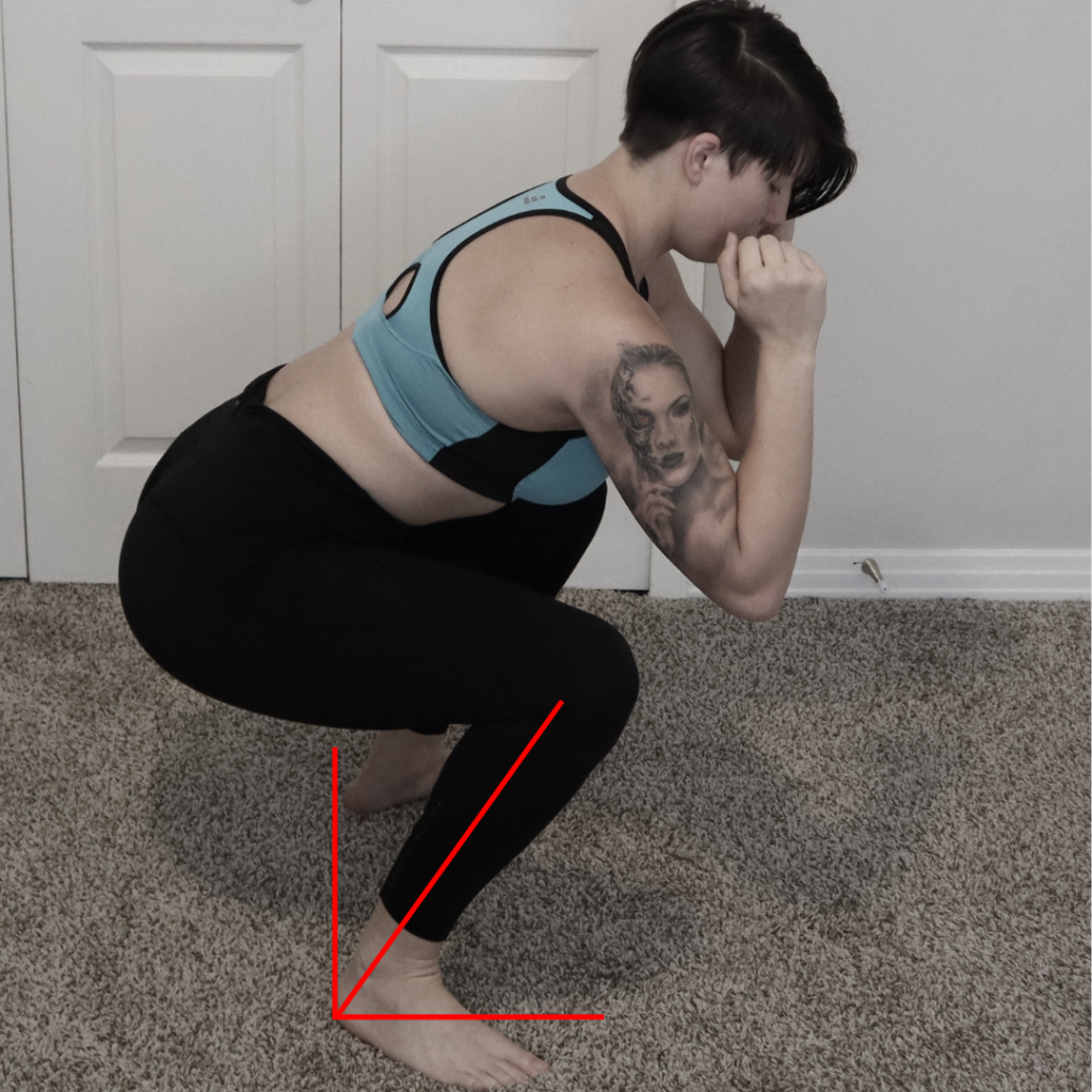 ankle mobility squat, knee pain from squats, back pain from squats