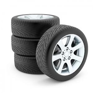 Tires with aluminium discs