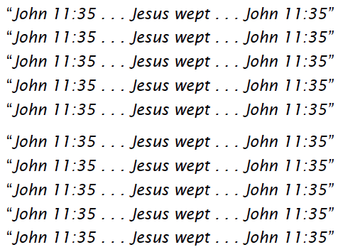 Jesus Wept 10x