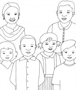 Big Family-Mom Dad 4 Kids