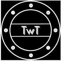 Wrigley tavern logo white