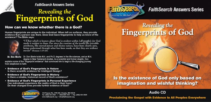 Revealing the Fingerprints of God audio