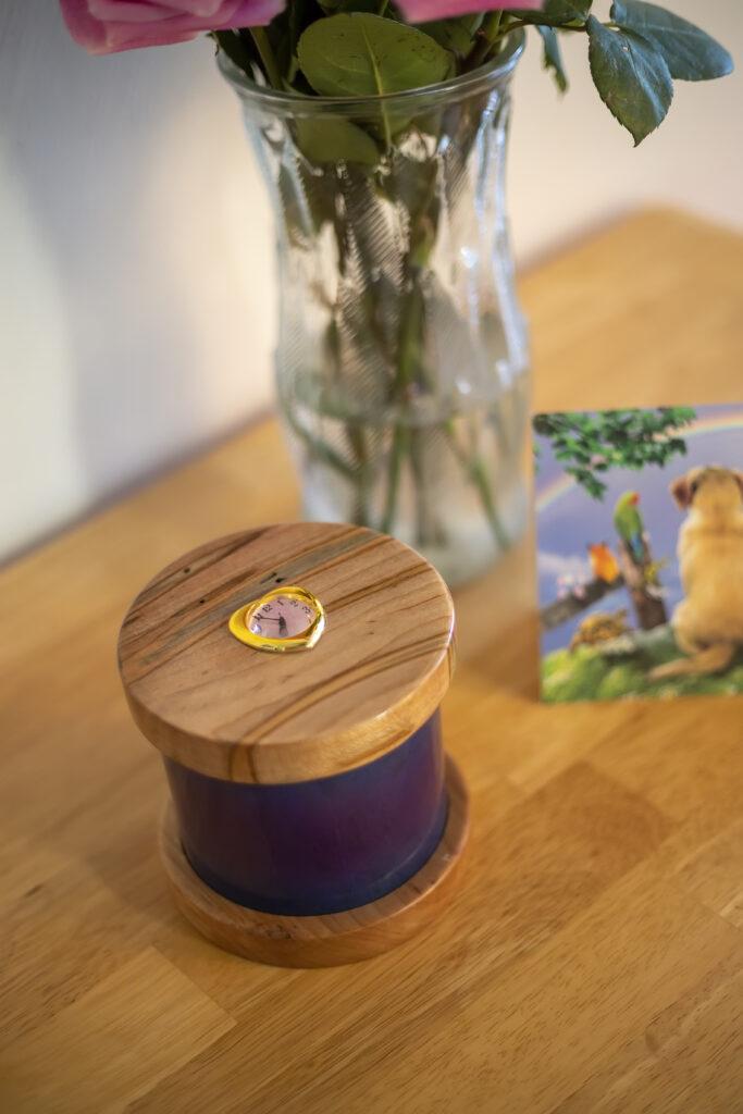 Dignity Series Pet Urn in Purple Burst