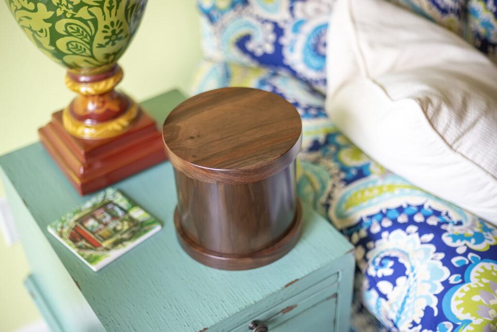 Dignity Series Pet Urn in Traditional Walnut