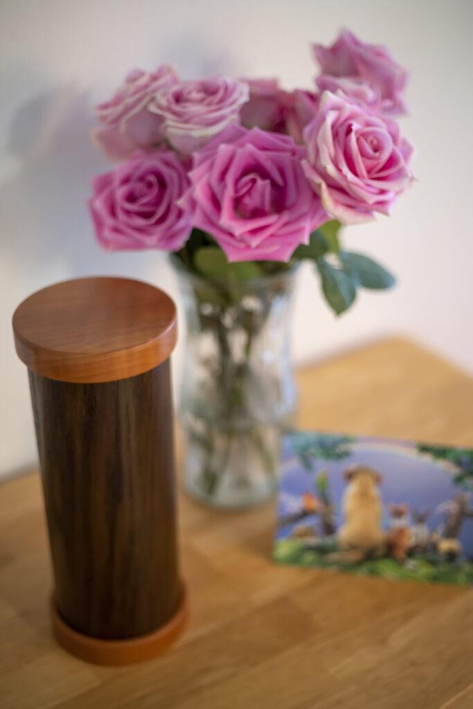 Oak Pet Urn with Van Dyke Finish