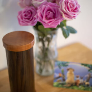 Oak Pet Urn with Van Dyke Finish
