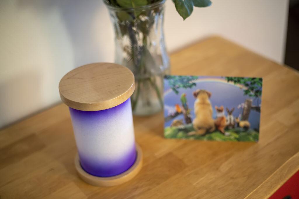 Maple Pet Urn in Purple Rain