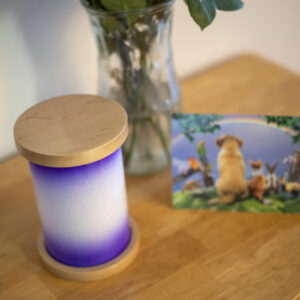 Maple Pet Urn in Purple Rain