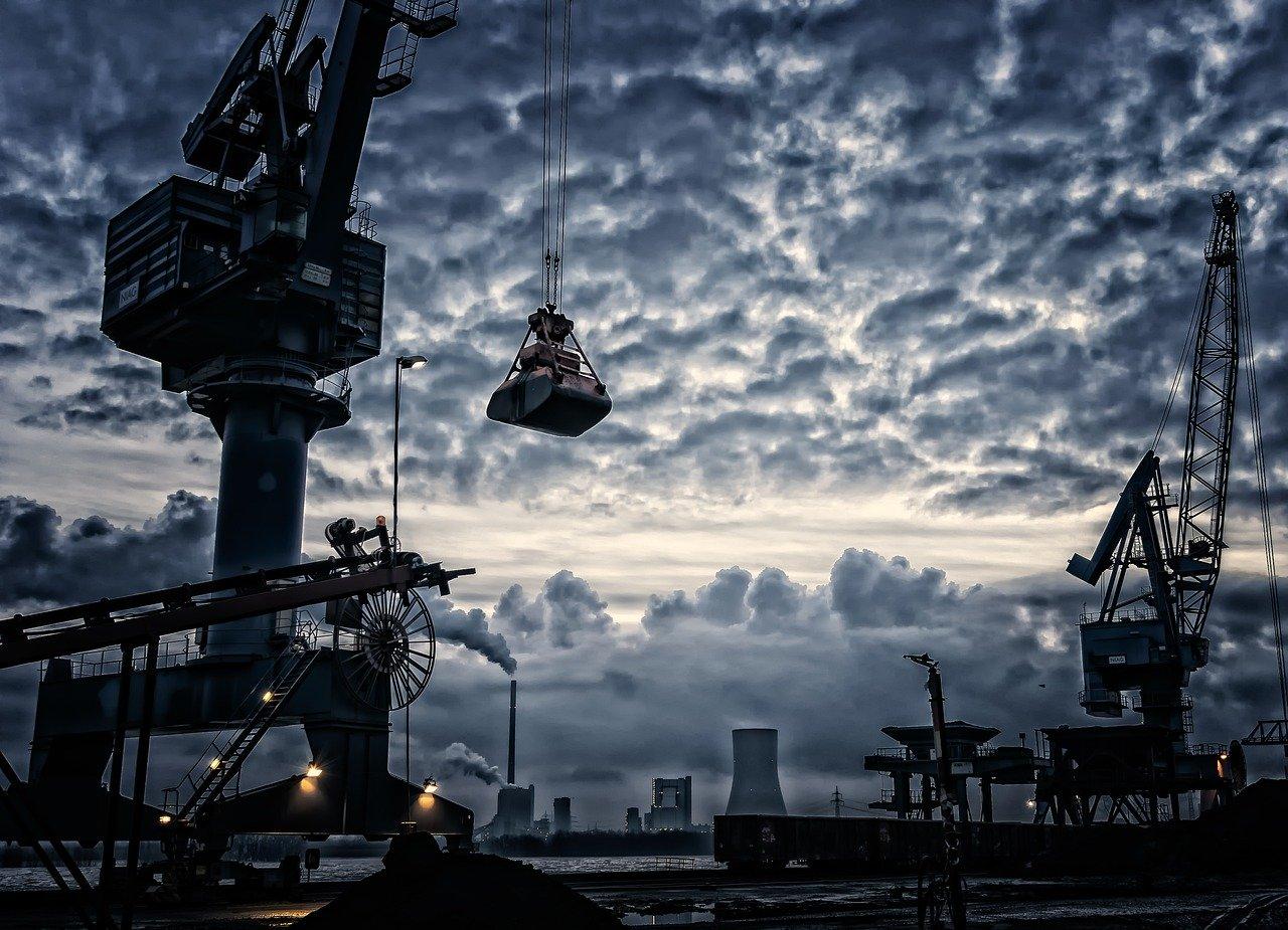 port, crane, harbour crane