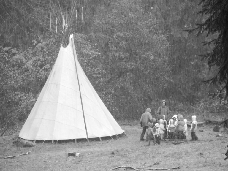 Field and Forest Outdoor Preschool tipi