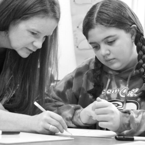 Alison Farrell teaching math