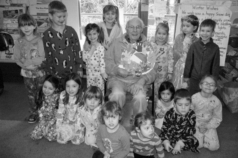 Beloved class room aid, Grandpa Les, with The Attic primary class