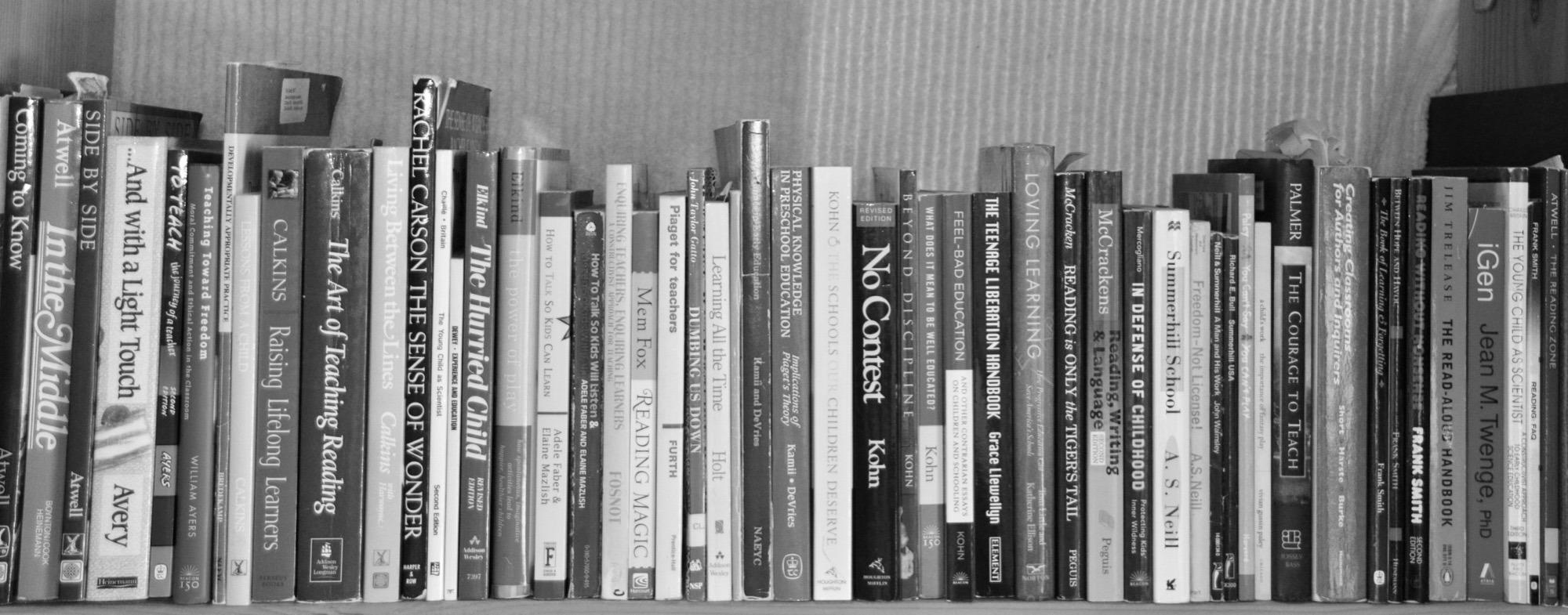 books on shelf