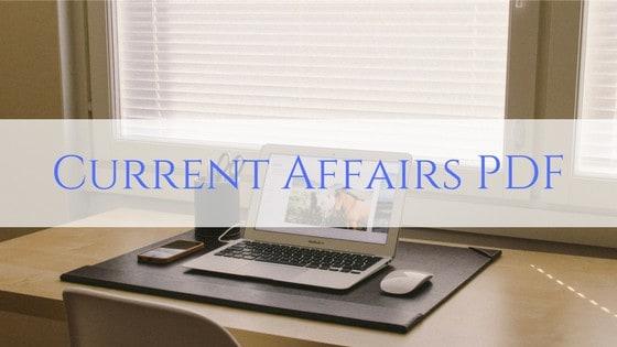 Current Affairs PDF