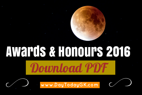 Awards and Honours