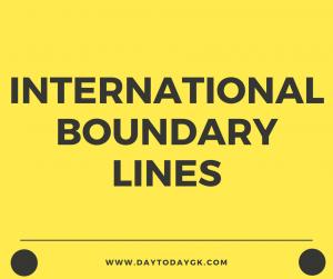 International Boundary Lines
