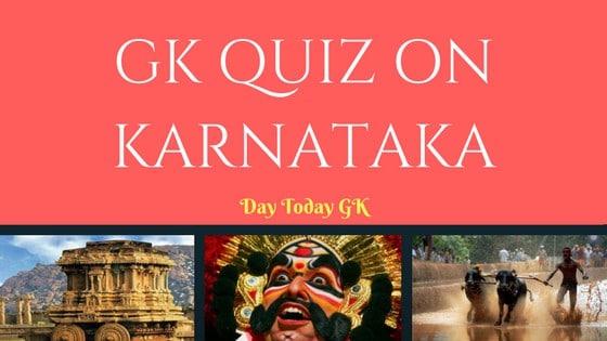 GK Quiz on Karnataka