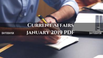 Current Affairs January 2019 PDF