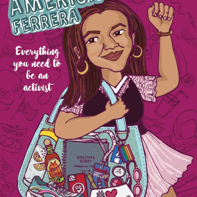 America Ferrera Book Cover Illustration