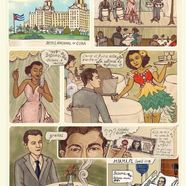 Havana Cuba 1946 Graphic Novel page Illustration
