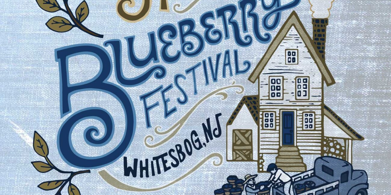 Whitebog Blueberry Festival Poster art