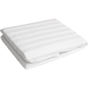 White Stripped Bedsheet 250tc,300tc