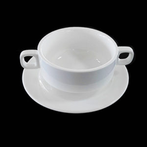 Soup Bowl w/ Dual Handles and Under-liner