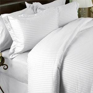 White Stripped Duvet Cover 250tc,300tc