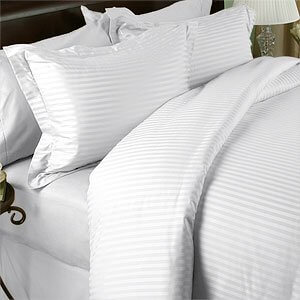 White Stripped Duvet Cover 250tc,300tc