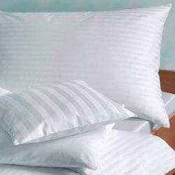 White Stripped Pillow Cover 250tc,300tc