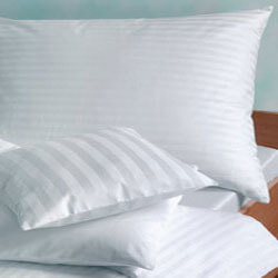 White Stripped Pillow Cover 250tc,300tc