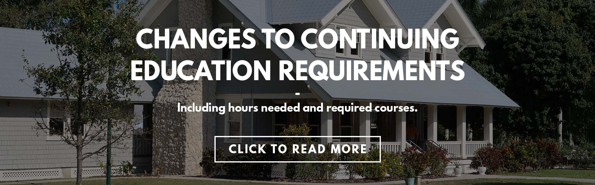 Changes to Continuing Education Requirements Info