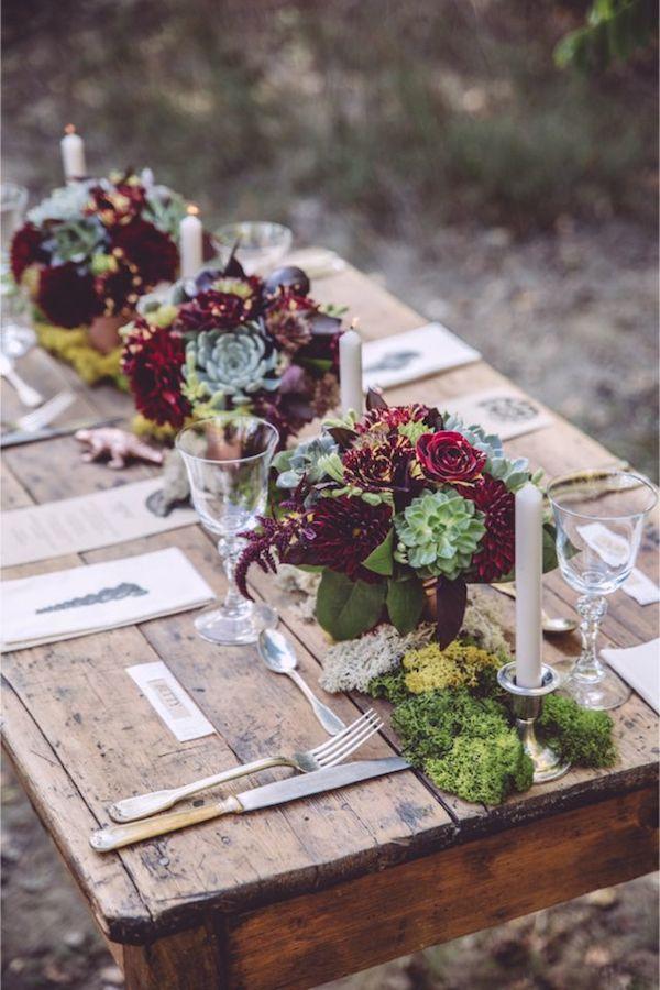 fall-succulent-wedding-centerpiece-ideas-with-marsala-flowers