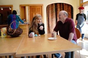 Sharon & Tim at table