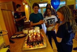 Samantha & her birthday cake