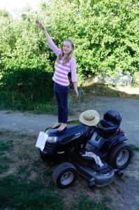 Balancing on the new mower