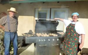 Smokin' hot at the large RW grill 2