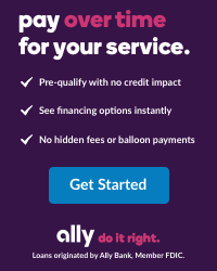 ally financing   pay over time for your service