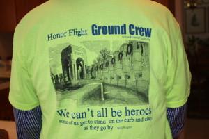Honor Flight ground crew member