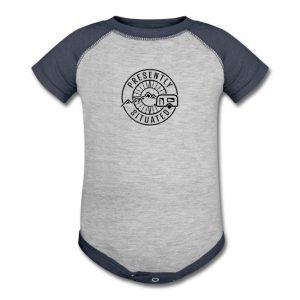 Presently Situated Logo Baseball Baby Bodysuit