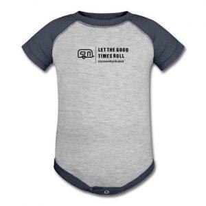 Let The Good Times Roll Trailer Baseball Baby Bodysuit