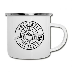 Presently Situated Logo Camper Mug