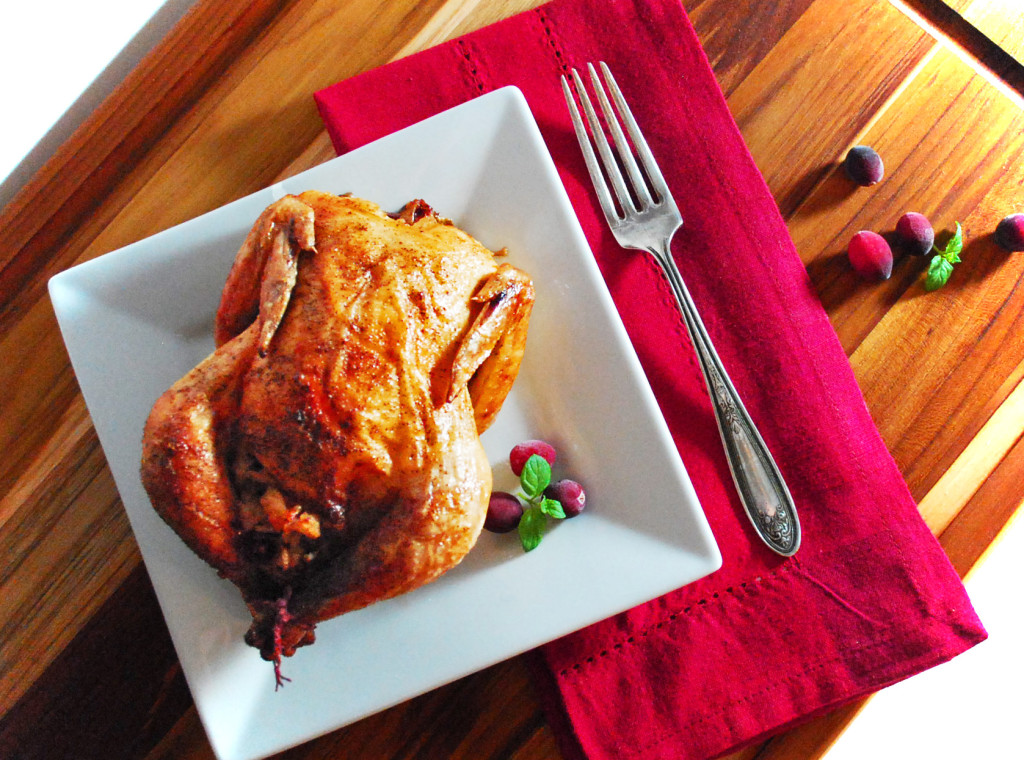 Roasted Cornish Hens with Cranberry Stuffing