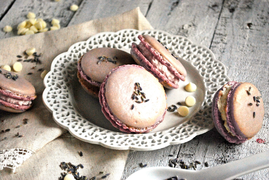 Lavender White Chocolate Macrons