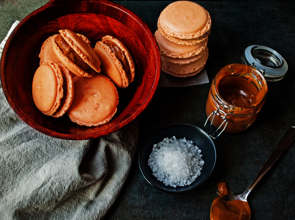 Salted Caramel French Macarons