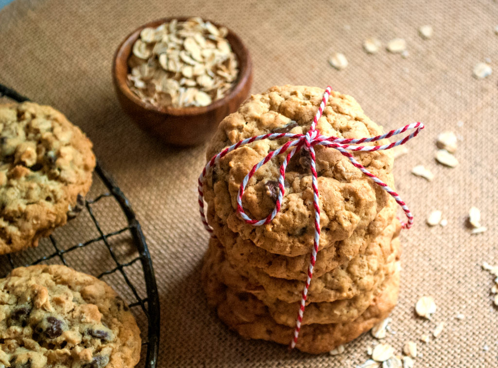 Soft Chocolate Chip Oatmeal Cookies