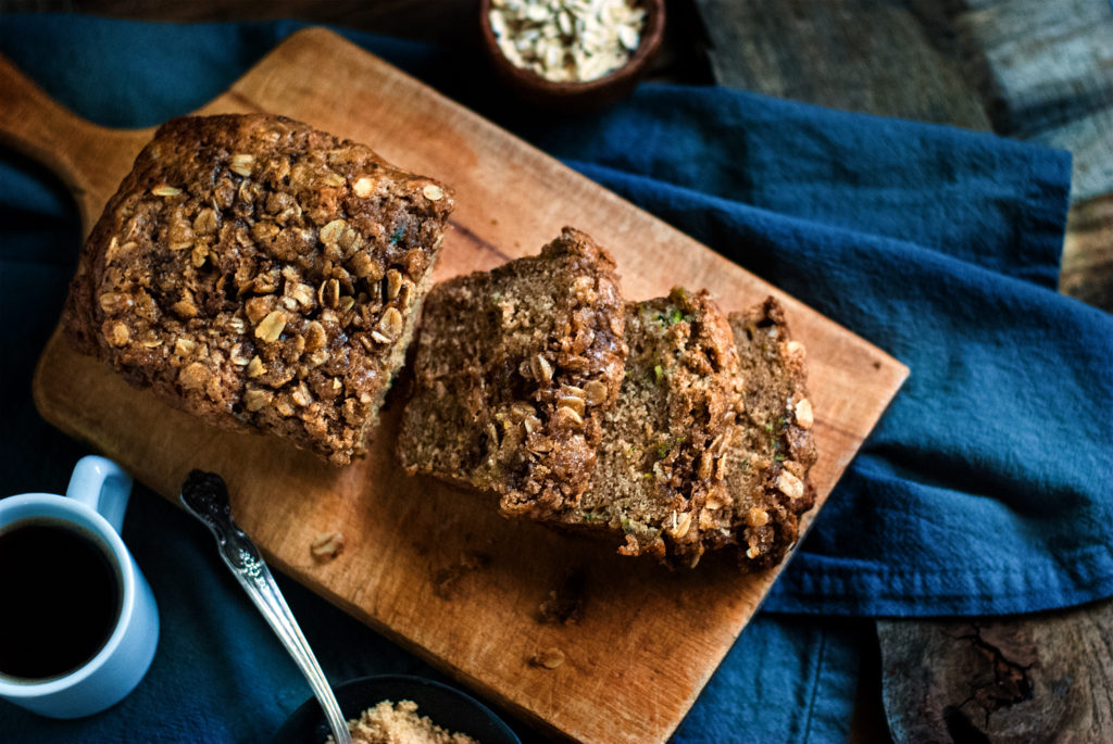 Zucchini Bread with Cinnamon Streusel Topping