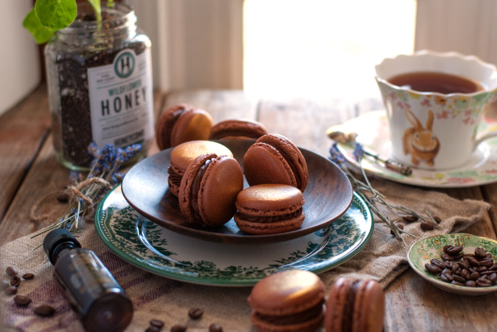 Coffee Rum French Macarons