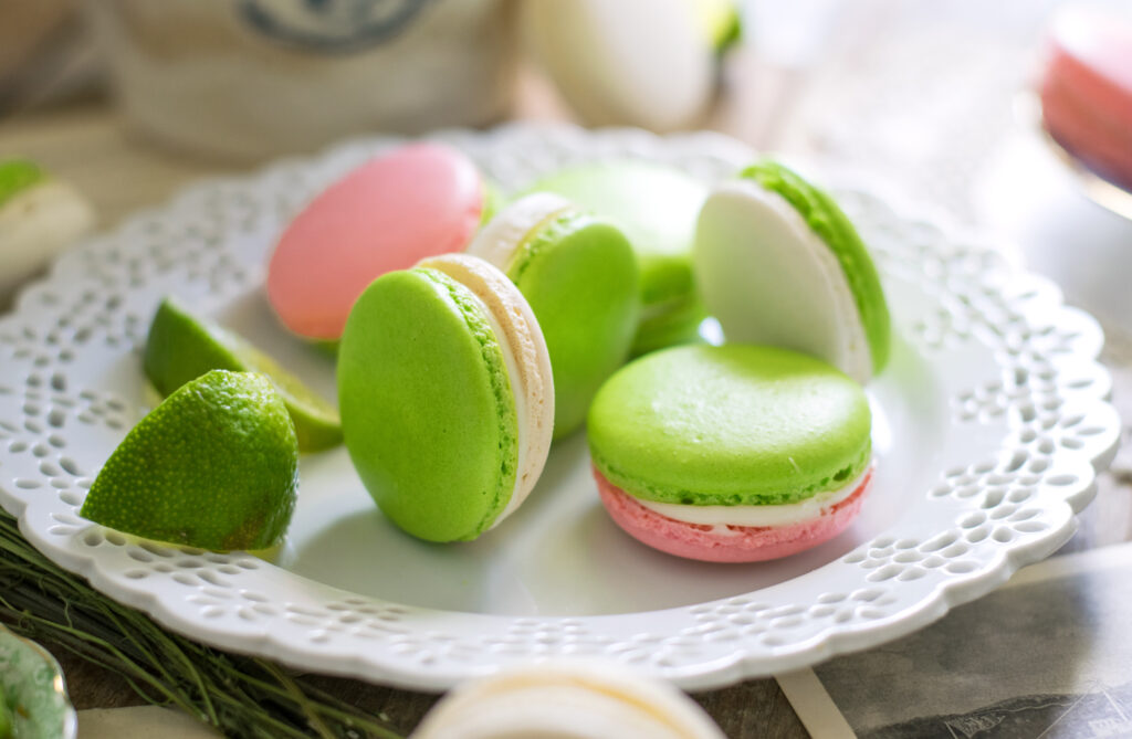 Cherry Limeade French Macarons