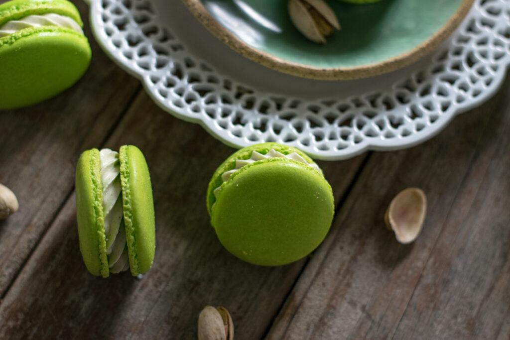 Pistachio French Macarons